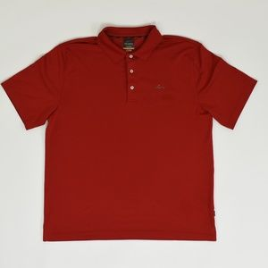 Greg Norman Regular L Red   Polo Polyester solid